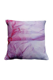 SUZANNE GOODWIN Crinkled paper linen lilac cushion