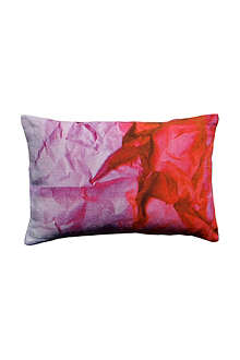SUZANNE GOODWIN Crinkled paper linen pink cushion