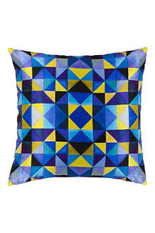 MARISKA MEIJERS Cubism French blue cushion