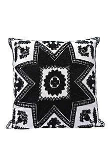 TRACEY BOYD Knotted complex beaded cushion