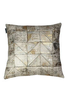 MUMO Leblon metallic patchwork cushion