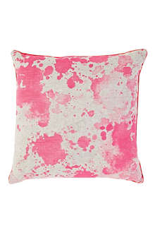 BONNIE AND NEIL Watercolour Fluoro cushion