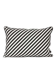 FERM LIVING Black stripe cushion