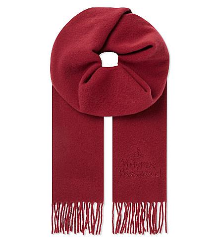 VIVIENNE WESTWOOD Wool logo scarf (Brg