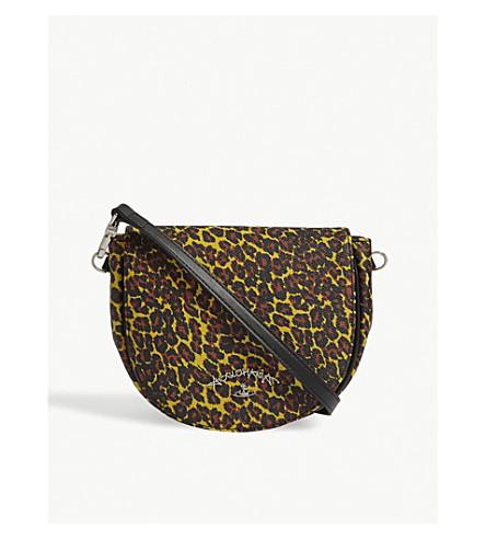 VIVIENNE WESTWOOD Anglo leopard-print PVC shoulder bag (Yellow+leopard