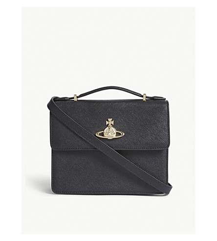 VIVIENNE WESTWOOD Pimlico leather cross-body bag (Black