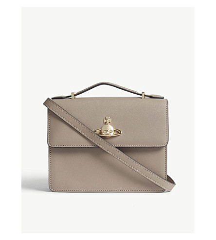 VIVIENNE WESTWOOD Pimlico leather cross-body bag (Taupe