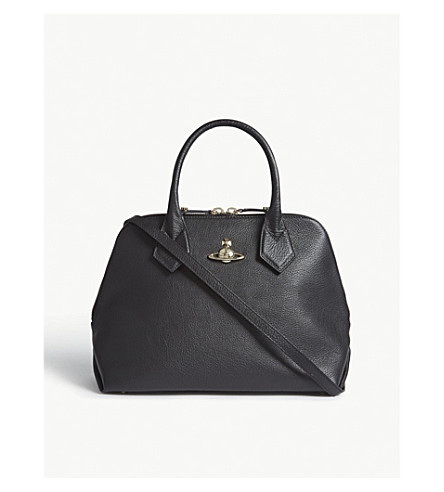 VIVIENNE WESTWOOD Balmoral leather tote (Black