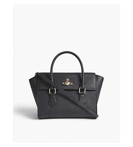 VIVIENNE WESTWOOD Pimlico Saffiano leather tote (Black