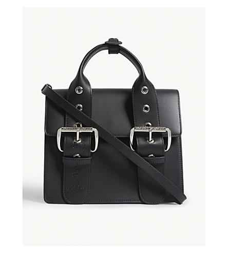 VIVIENNE WESTWOOD Alex medium leather handbag (Black