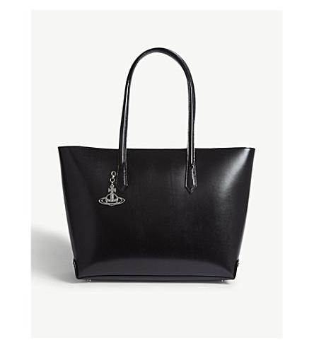 VIVIENNE WESTWOOD Sarah leather tote (Black