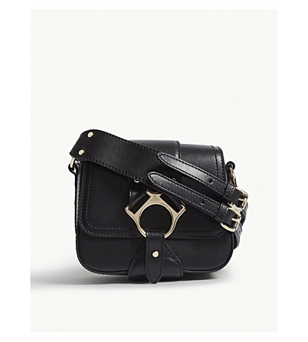 VIVIENNE WESTWOOD Folly small leather cross-body bag (Black