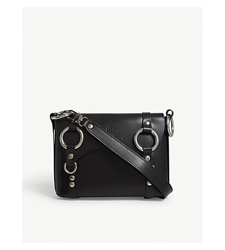 VIVIENNE WESTWOOD Betty small leather cross-body bag (Black