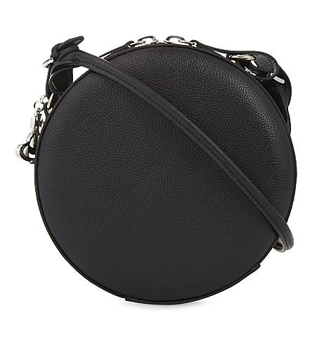 VIVIENNE WESTWOOD Anglomania Johanna medium round leather cross-body bag (Black