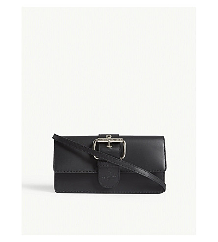 VIVIENNE WESTWOOD Alex leather clutch (Black