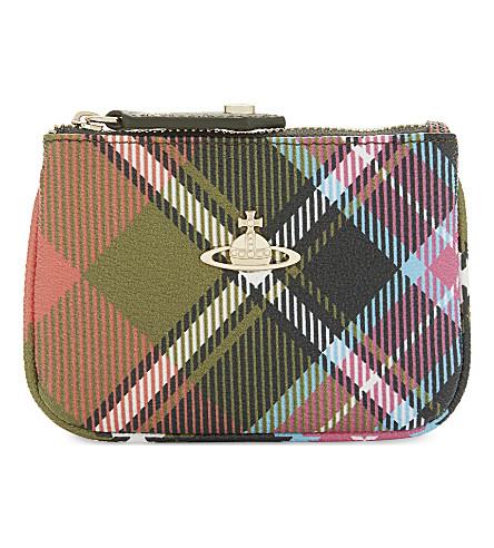 VIVIENNE WESTWOOD Check leather wallet (Multi