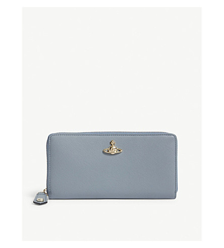 VIVIENNE WESTWOOD Pimlico grained leather wallet (Blue