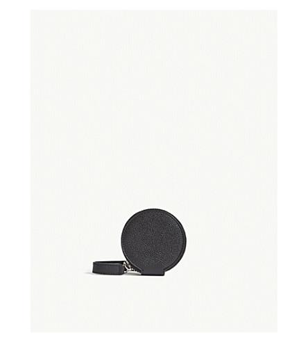 VIVIENNE WESTWOOD Johanna medium grained leather circle purse (Black
