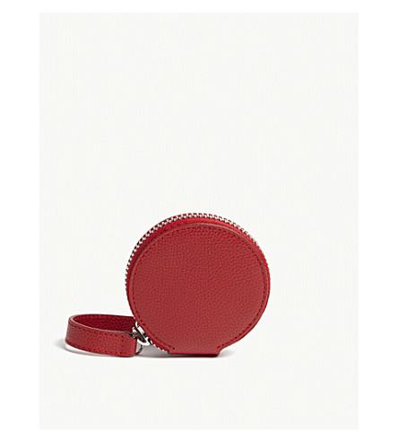 VIVIENNE WESTWOOD Johanna medium grained leather circle purse (Red