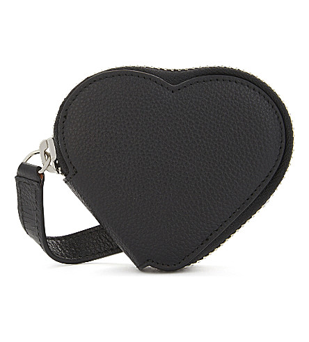 VIVIENNE WESTWOOD Johanna Heart coin purse (Black