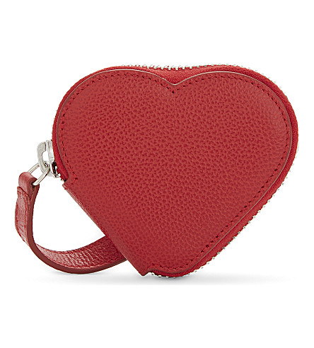 VIVIENNE WESTWOOD Johanna Heart coin purse (Red