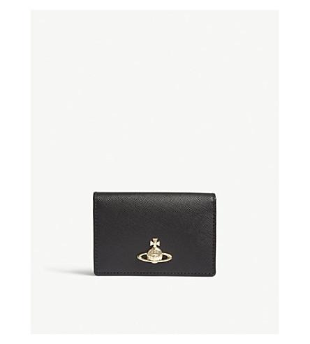 VIVIENNE WESTWOOD Pimlico grained leather card holder (Black