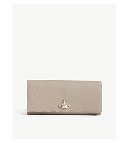 VIVIENNE WESTWOOD Pimlico textured leather wallet (Taupe
