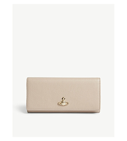 VIVIENNE WESTWOOD Balmoral leather wallet (Taupe