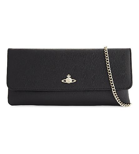 VIVIENNE WESTWOOD Saffiano leather cross-body bag (Black