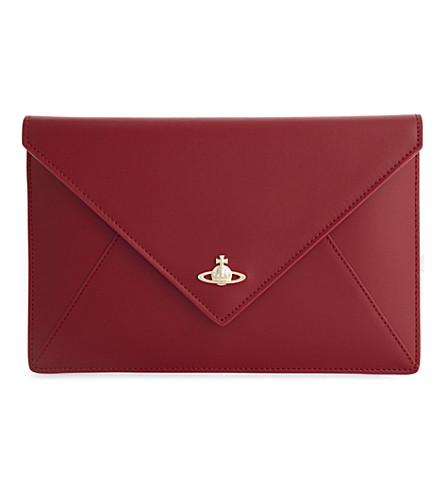 VIVIENNE WESTWOOD Private leather clutch (Red