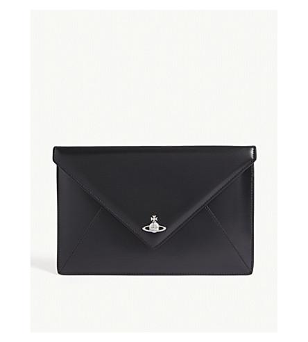 VIVIENNE WESTWOOD Private logo pouch (Black/black