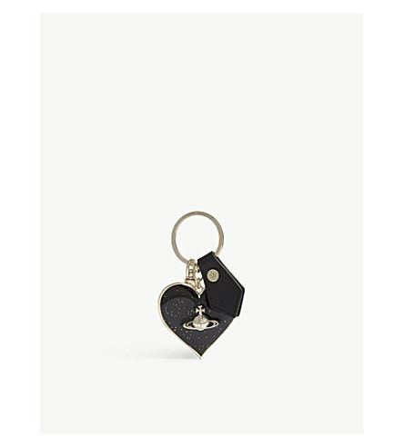 VIVIENNE WESTWOOD Gadget heart keyring (Black