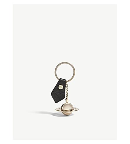 VIVIENNE WESTWOOD Gadget orb keyring (Black/gold