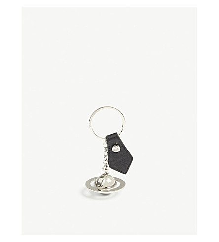 VIVIENNE WESTWOOD Metal orb keyring (Black/silver
