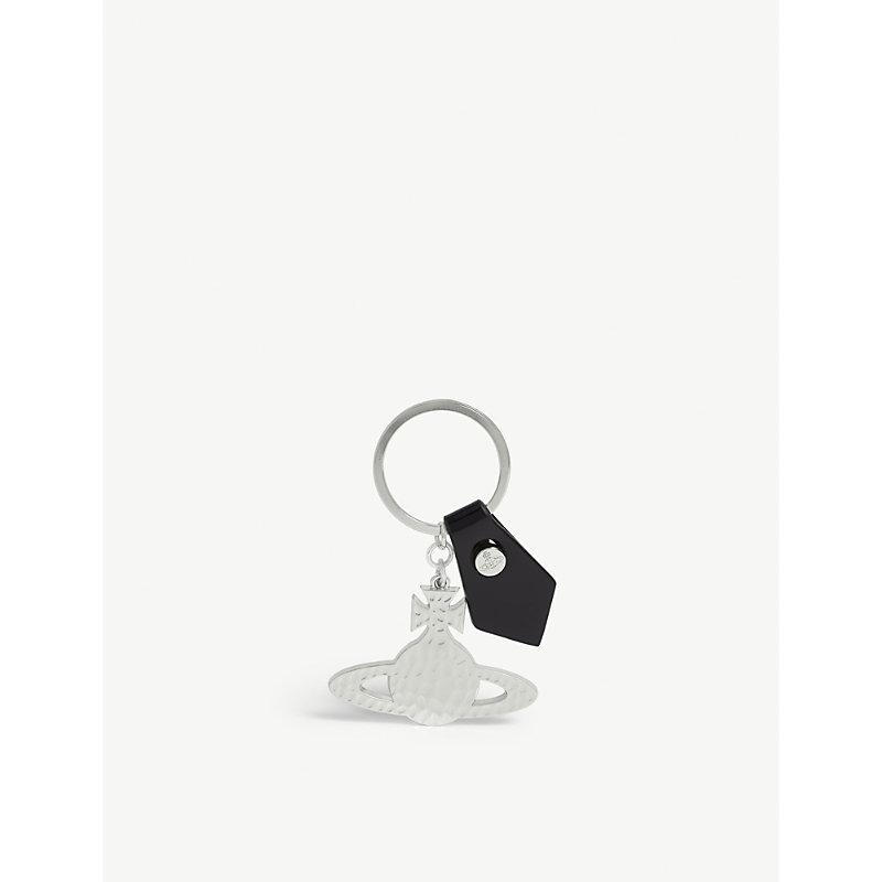 Silver-toned orb keyring