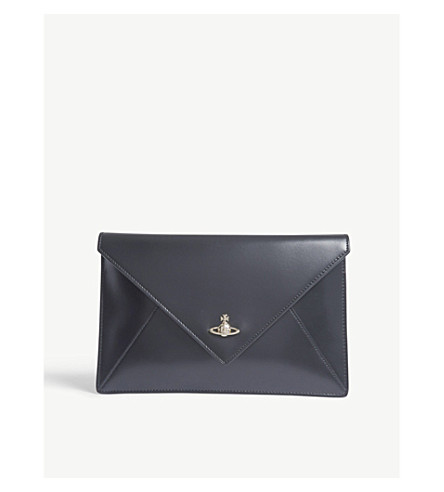 VIVIENNE WESTWOOD Private leather pouch (Grey