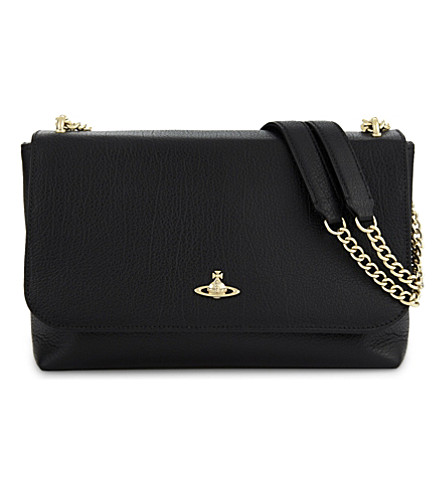 VIVIENNE WESTWOOD Balmoral leather cross-body bag (Black