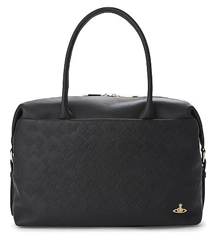 VIVIENNE WESTWOOD Harrow leather shoulder bag (Black