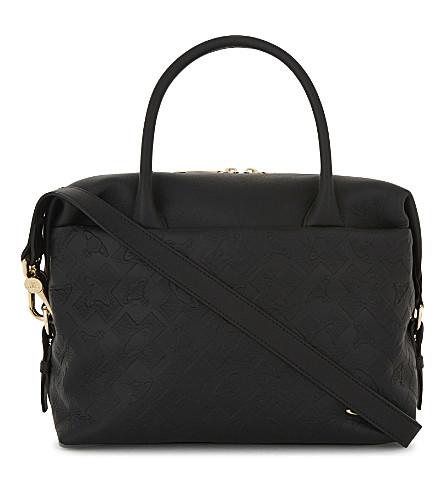 VIVIENNE WESTWOOD Harrow leather handbag (Black