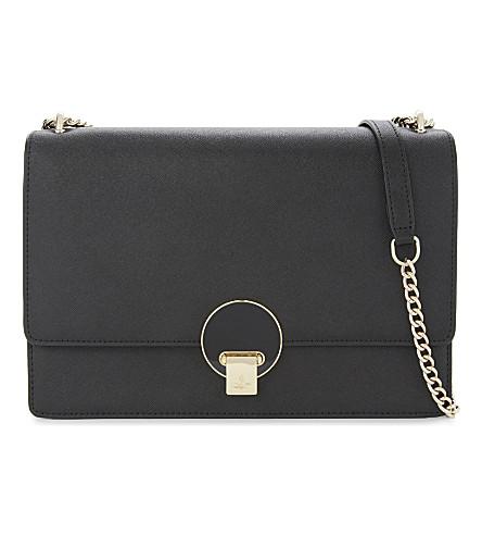 VIVIENNE WESTWOOD Saffiano leather shoulder bag (Black