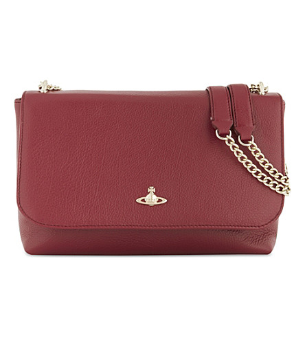 VIVIENNE WESTWOOD Balmoral leather cross-body bag (Red