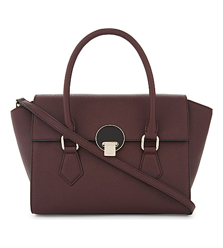 VIVIENNE WESTWOOD Opio medium Saffiano leather tote (Bordeaux