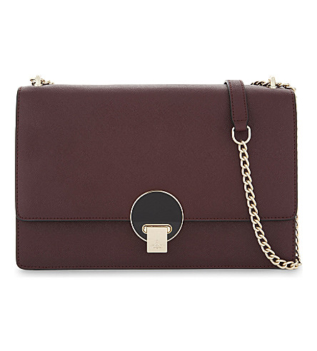 VIVIENNE WESTWOOD Opio large Saffiano leather cross-body bag (Bordeaux