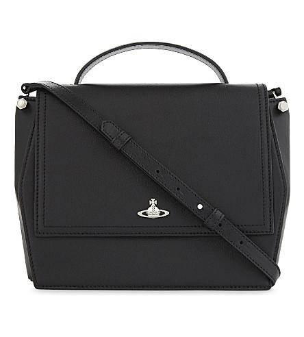 VIVIENNE WESTWOOD Cambridge leather shoulder bag (Black