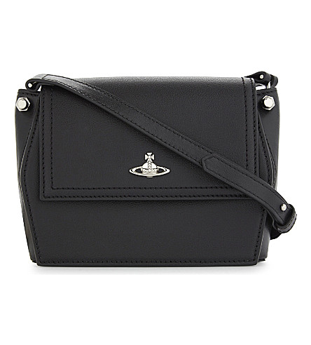 VIVIENNE WESTWOOD Cambridge leather cross-body bag (Black