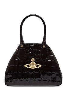 VIVIENNE WESTWOOD Apollo mock-croc leather handbag