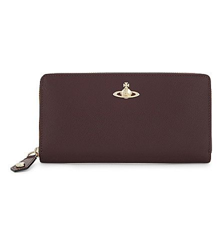 VIVIENNE WESTWOOD Opio saffiano leather wallet (Bordeaux