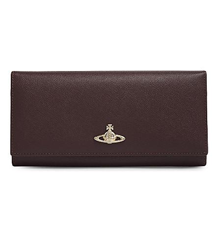 VIVIENNE WESTWOOD Saffiano leather wallet (Bordeaux