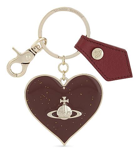 VIVIENNE WESTWOOD Gadget heart keychain (Red