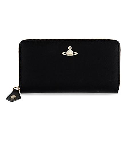 VIVIENNE WESTWOOD Divina zip-around wallet (Black